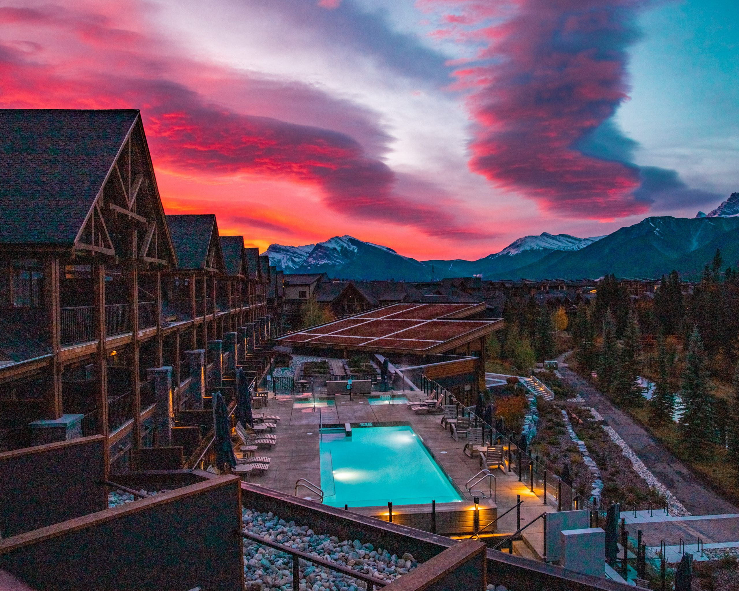 Vibrant Sunrise at Malcolm Hotel Canmore