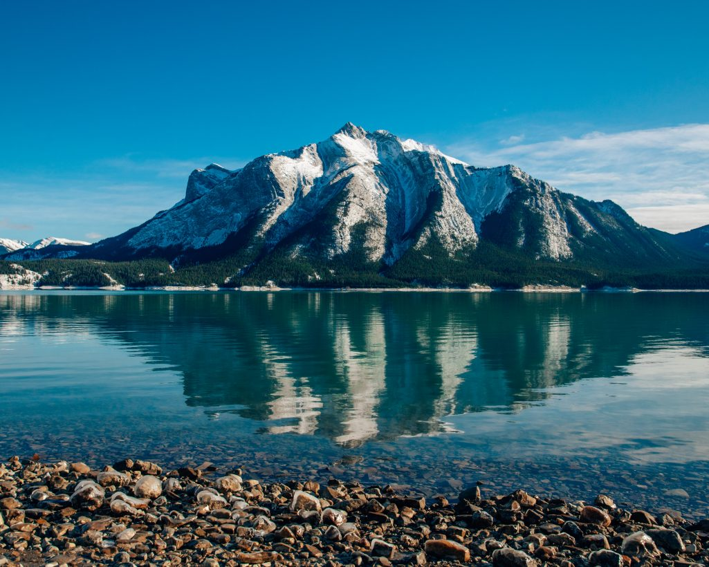 Abraham Lake in Fall Jasper National Park