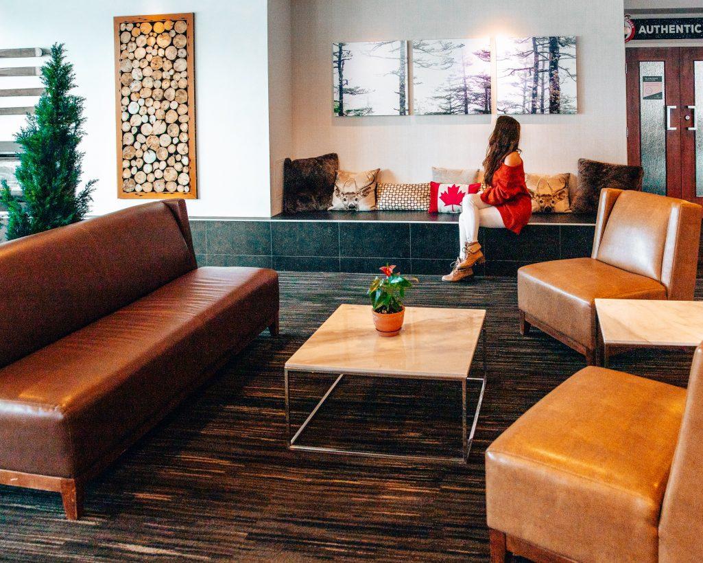 Lobby at the Crimson Hotel in Jasper