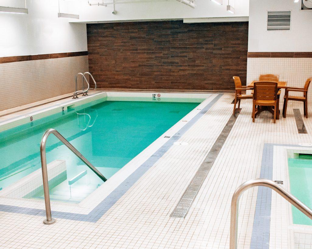Pool at the Crimson Hotel in Jasper