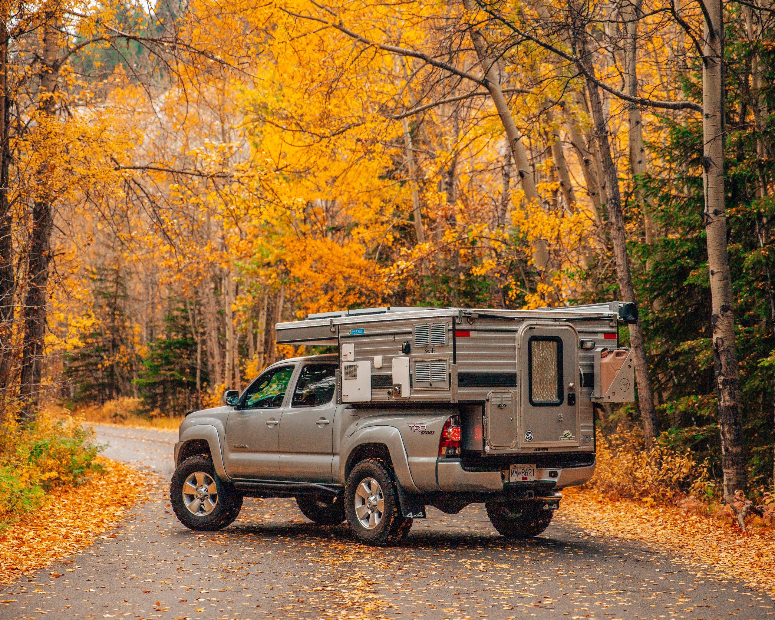 Pop Up Camper in Fall Foliage