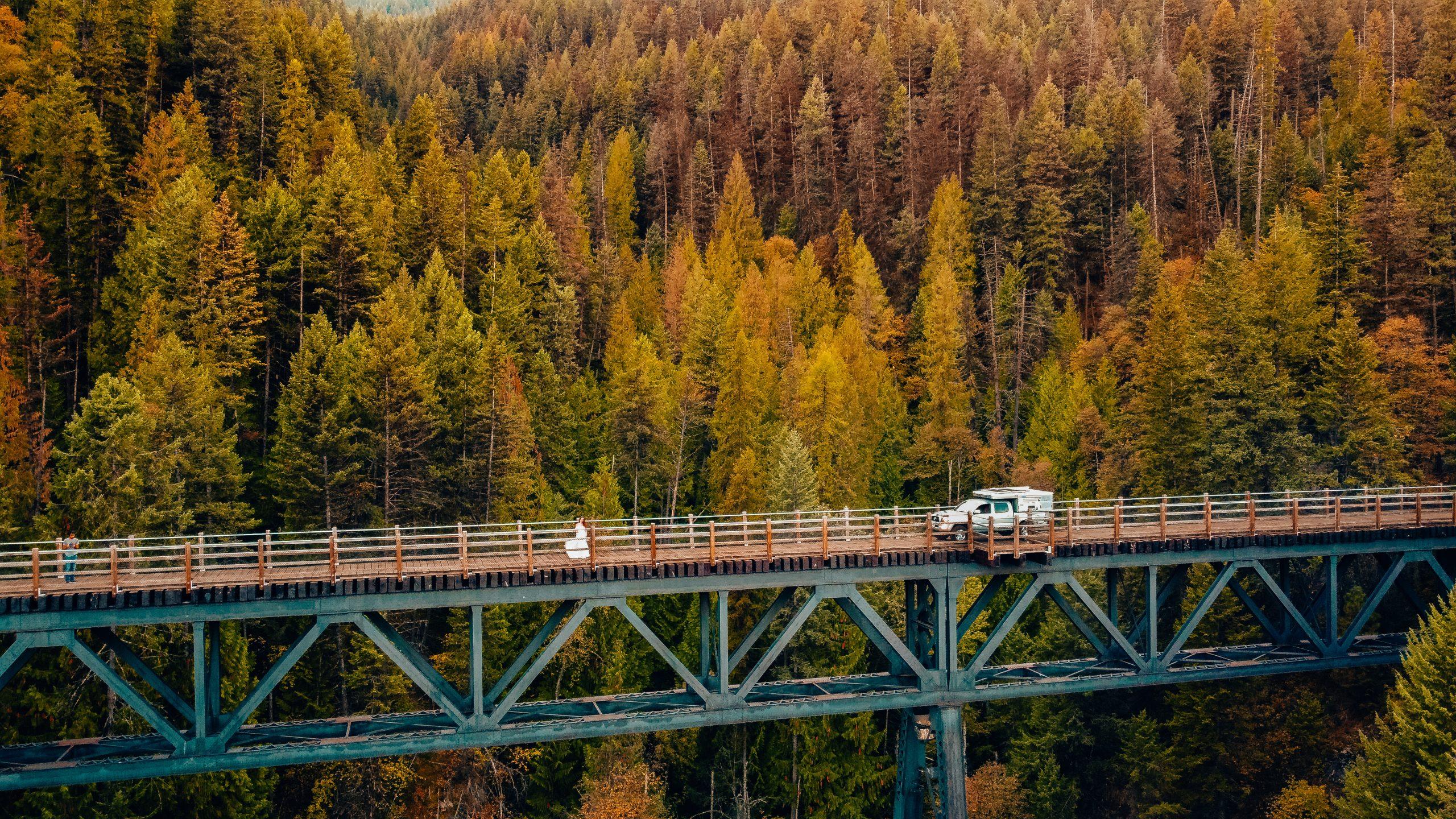 Train Trestle Bridge British Columbia