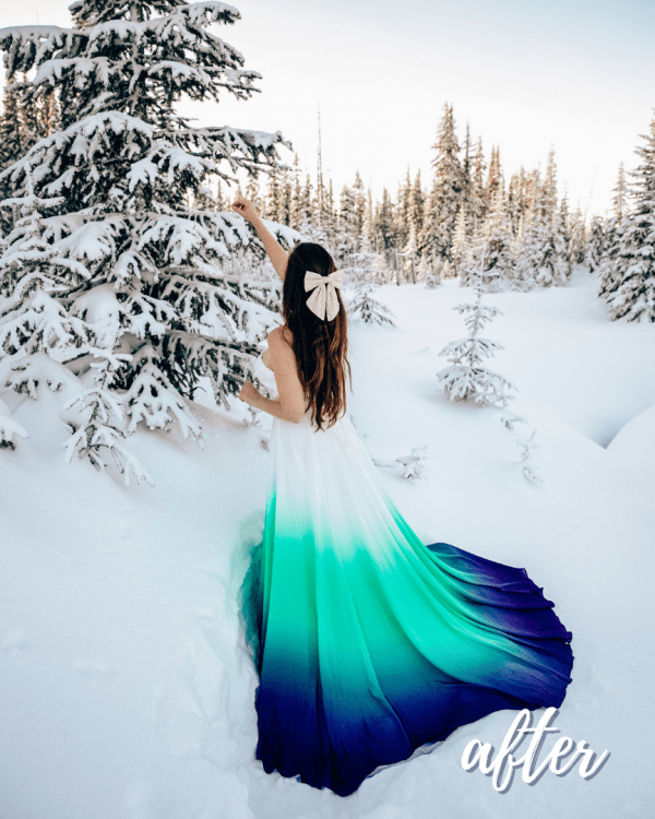 Winter Love Mobile Lightroom Preset Collection - Afternoon in the Snow After