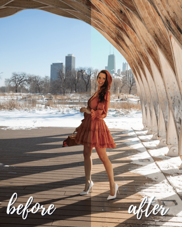 Winter Love Mobile Lightroom Preset Collection - Pastel Winter Dream Before and After
