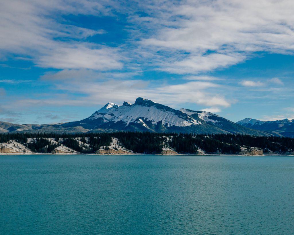 Abraham Lake in November