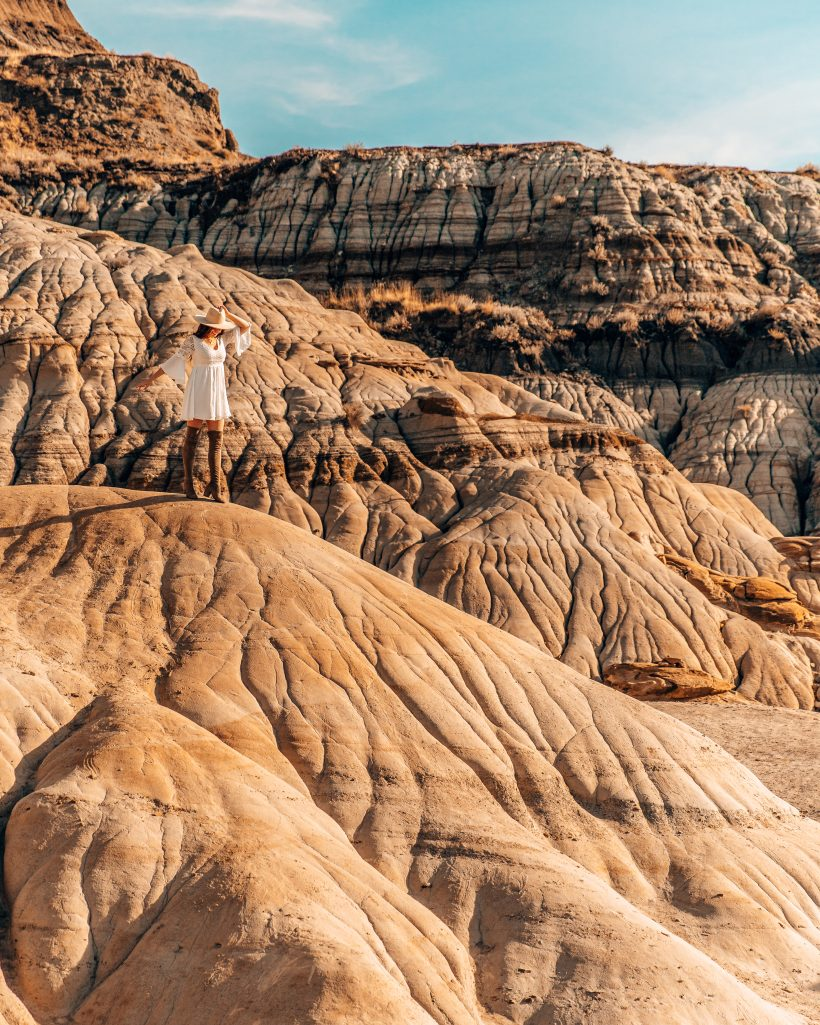 Alberta Badlands Hoodoos and Eroded Rock