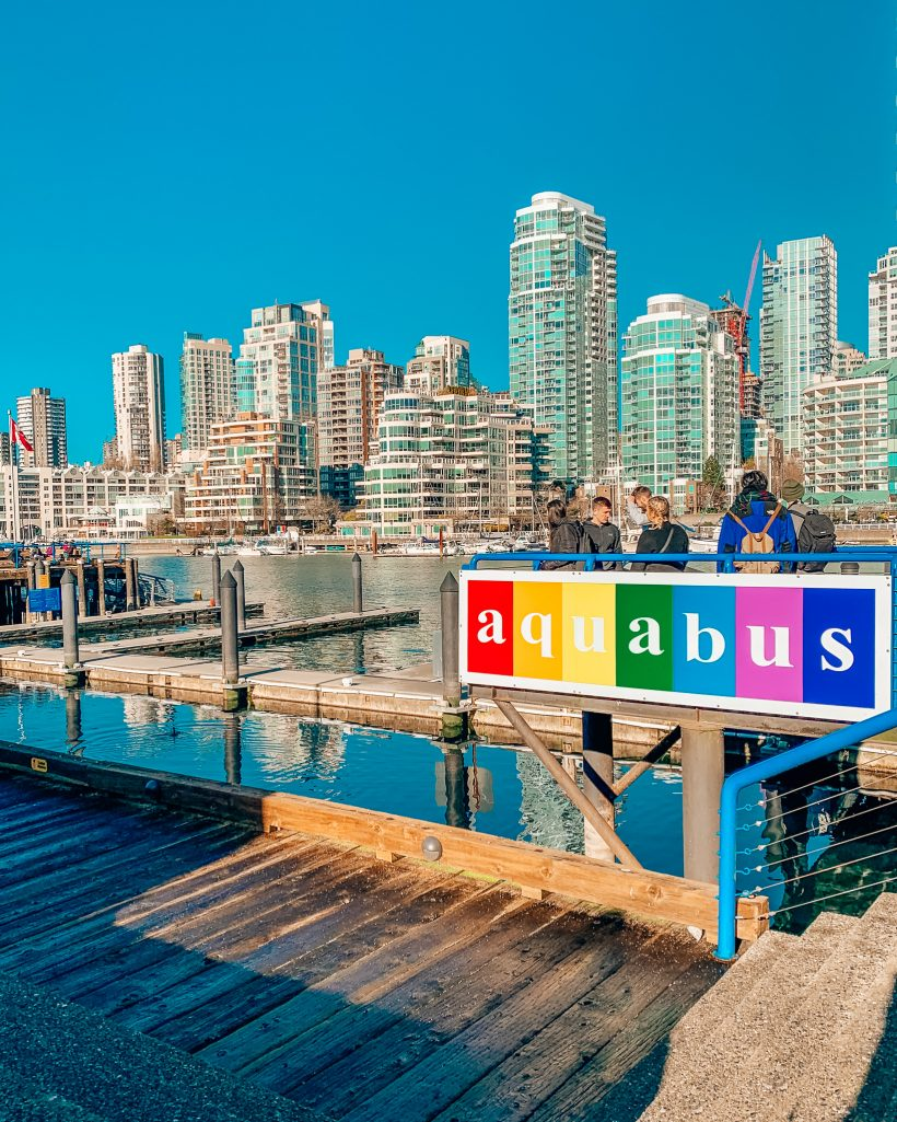 Aquabus Station at Granville Island in Downtown Vancouver