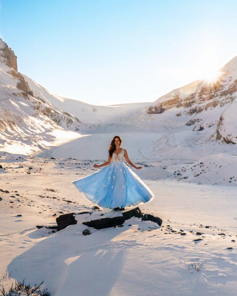 Athabasca Glacier Princess Dress