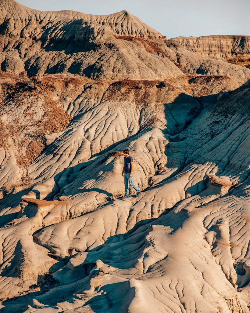 Rock Formations at Badlands Dinosaur Provincial Park Alberta