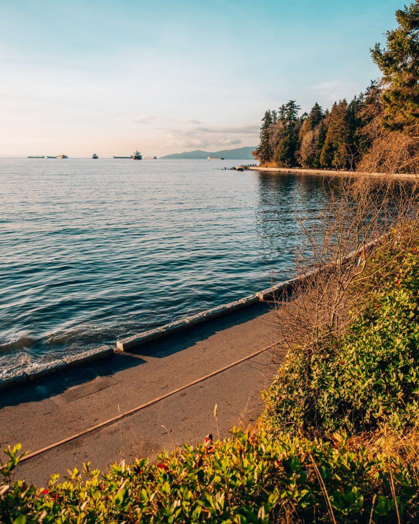 Stanley Park Boardwalk in Downtown Vancouver