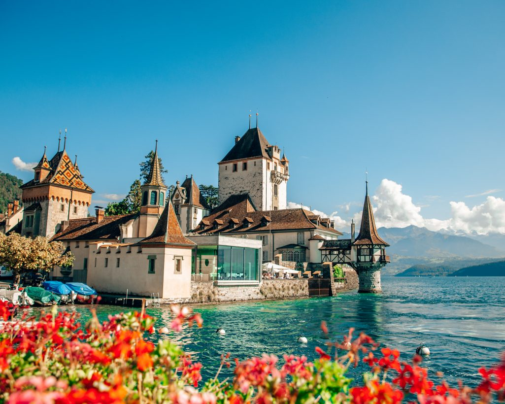 Castle Oberhofen in Switzerland Lake Thun