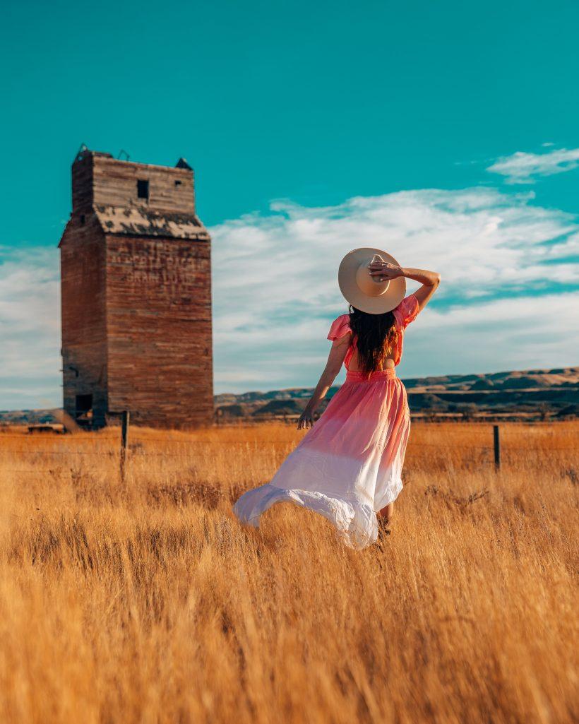 Dorothy Alberta Grain Elevator and Field