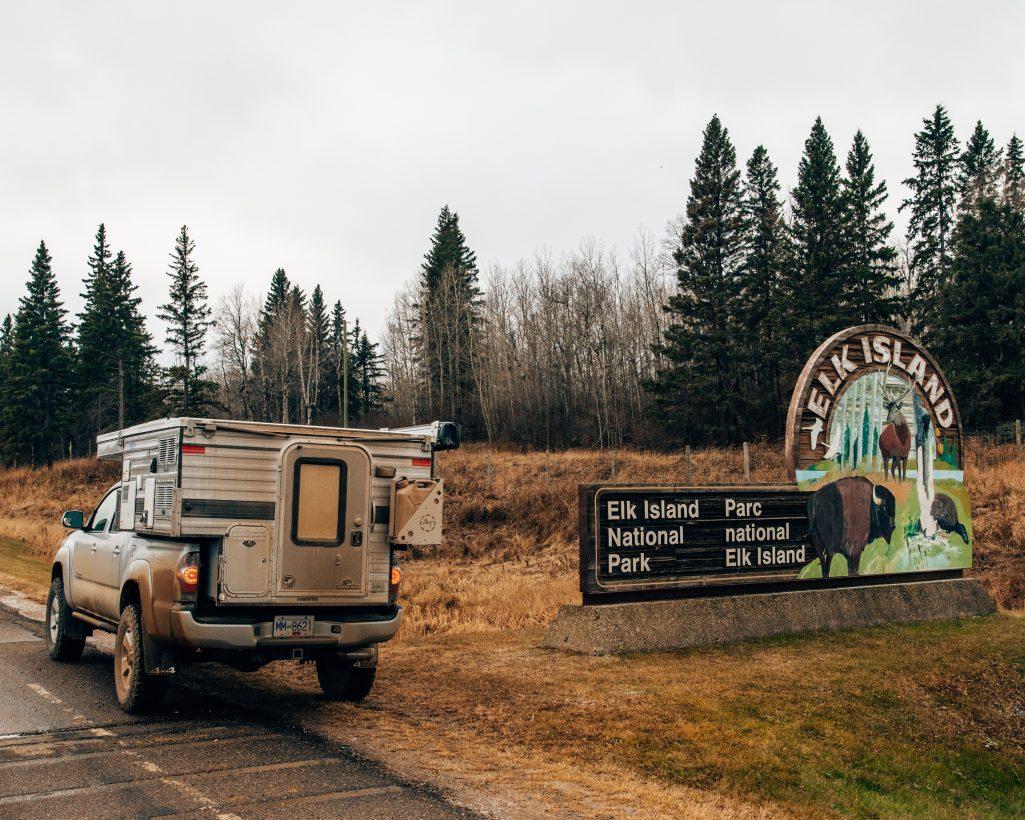 Elk Island Entrance Sign