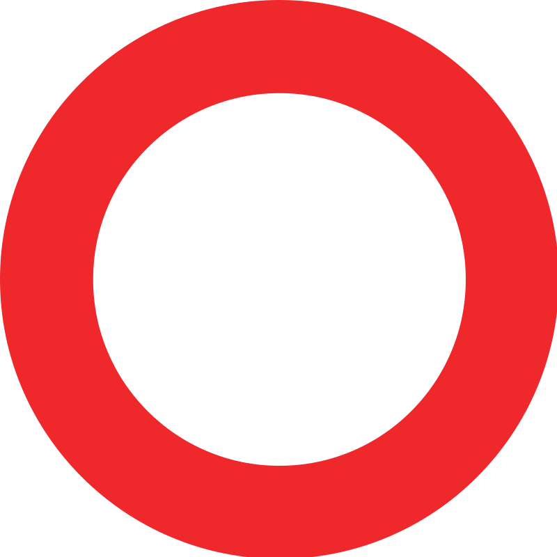 Prohibition of all vehicle traffic sign Switzerland