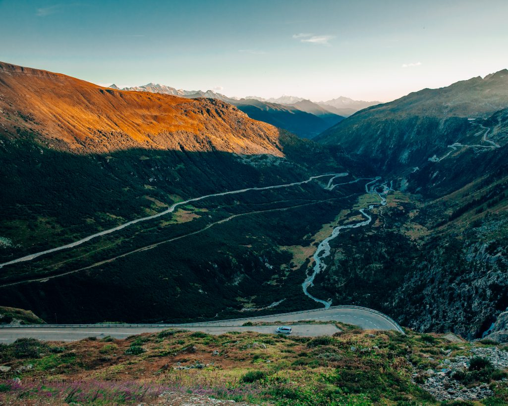 Furka Pass Switzerland View