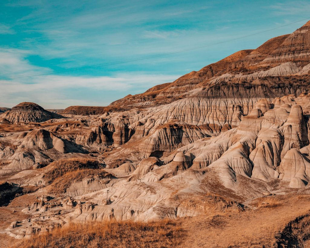 View of Hoodoos in Drumheller Alberta