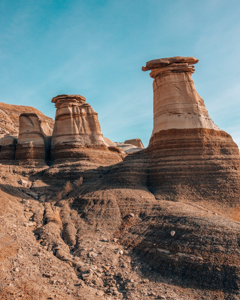 Hoodoos in Drumheller Alberta Badlands