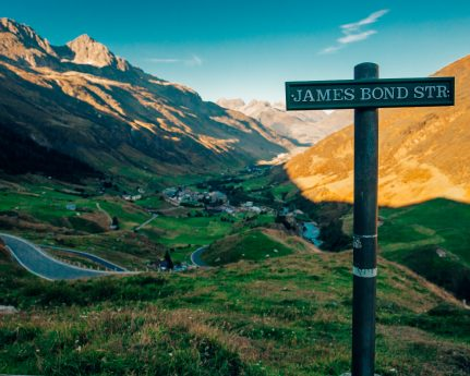 James Bond Strasse Switzerland