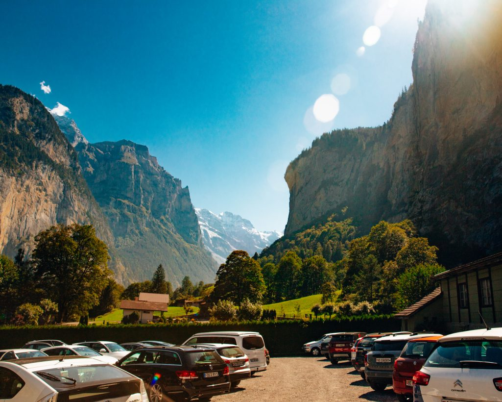 Lauterbrunnen Parking Lot Switzerland