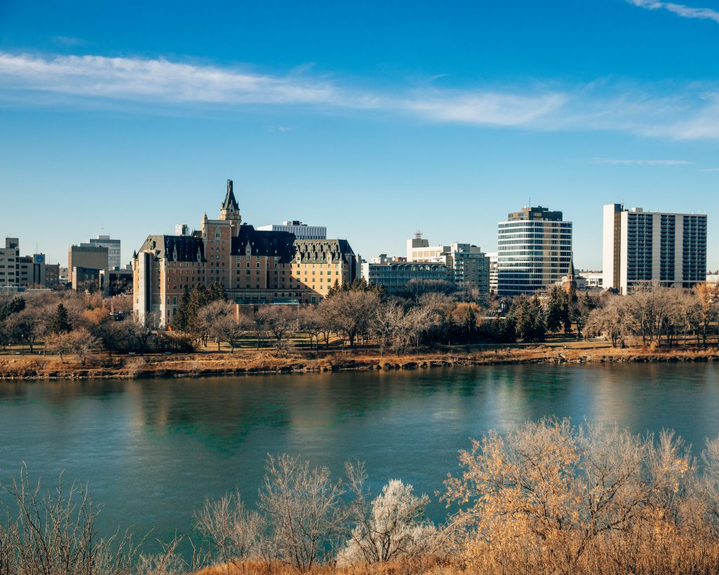 Saskatoon and Besborough View from Across River