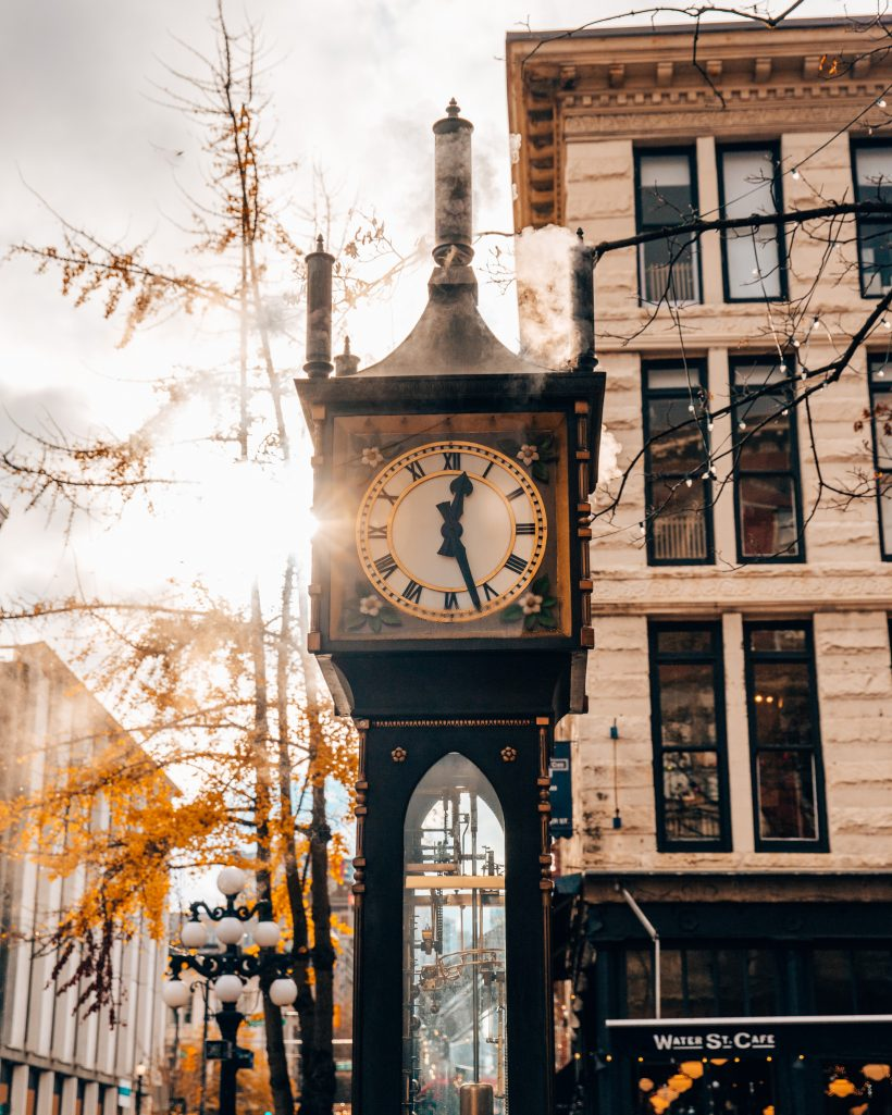 Steamclock in Gastown Downtown Vancouver