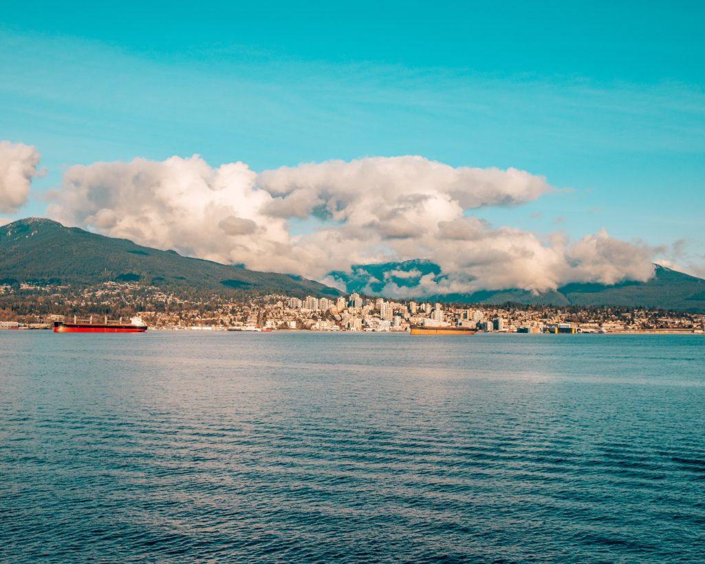 View of North Vancouver from Downtown Vancouver