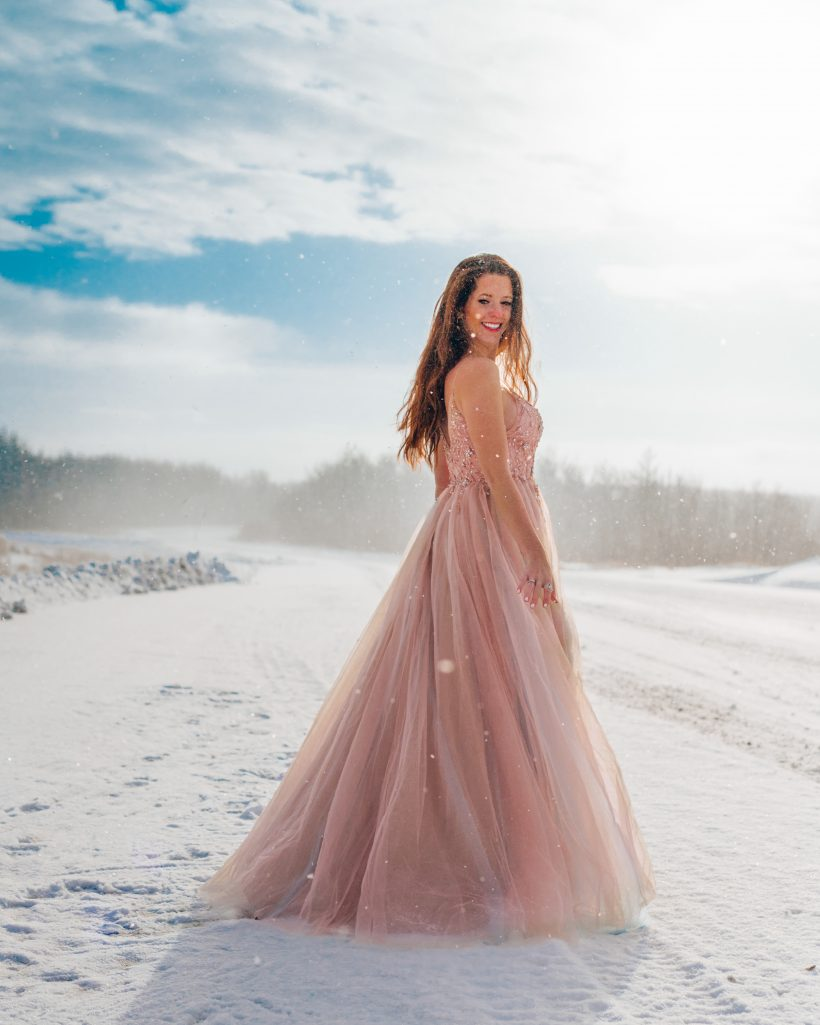 Winter Princess in Pink Dress
