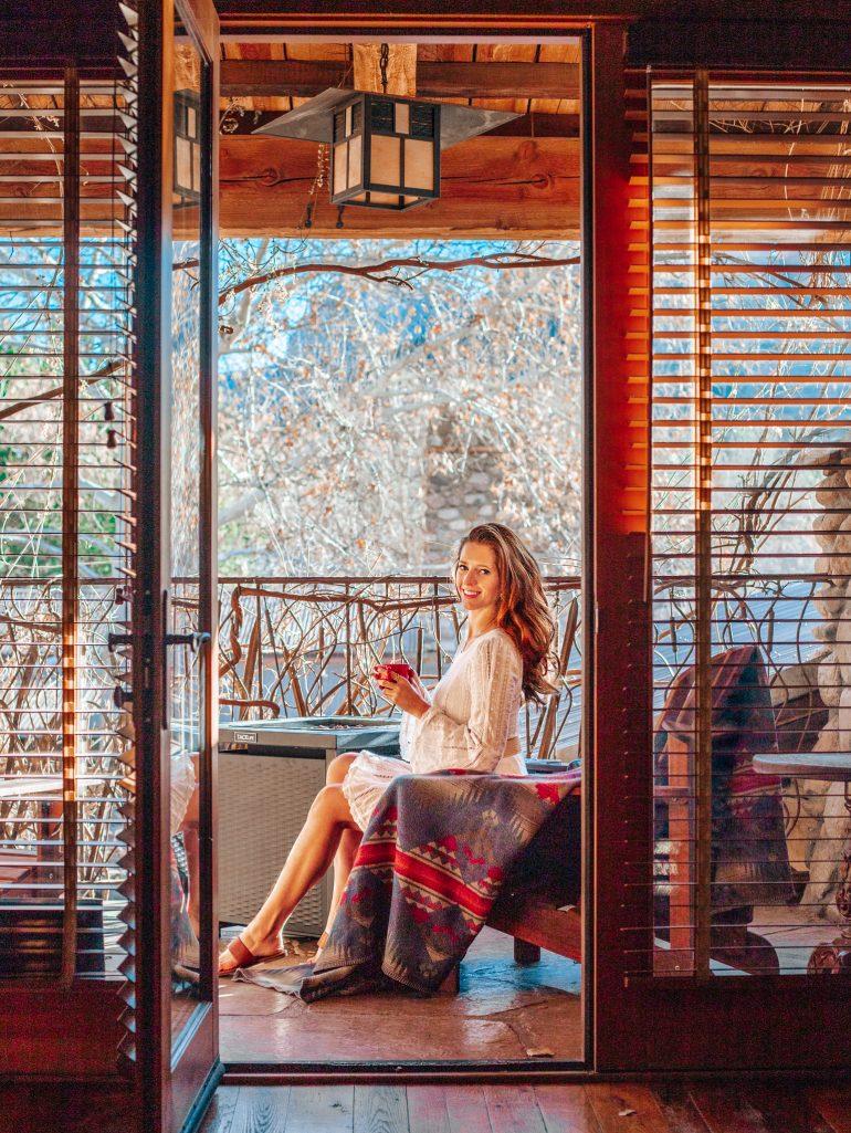 Balcony Fire Pit at El Portal Sedona, Arizona