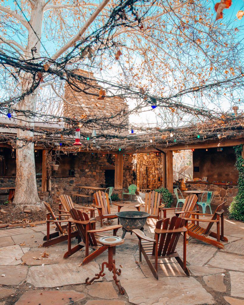 Courtyard at the El Portal Hotel in Sedona