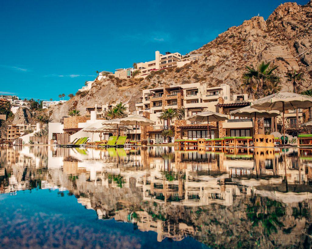 Pool Reflection at Waldorf Astoria Pedregal in Cabo San Lucas