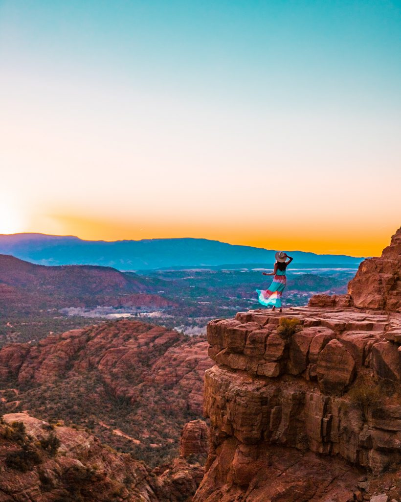 View from Cathedral Rock in Sedona at Sunset