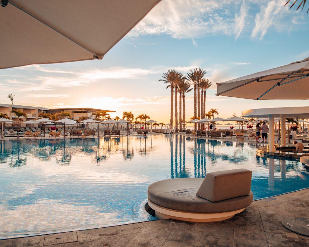 Sunrise at the Pool Le Blanc Cabo