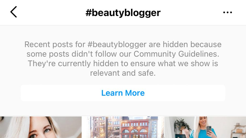 Banned Hashtag #beautyblogger