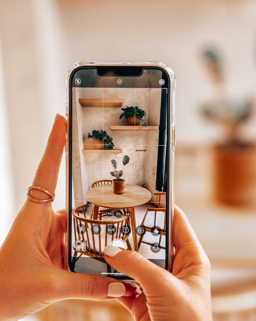 Taking an Iphone Photo of Interior Decor