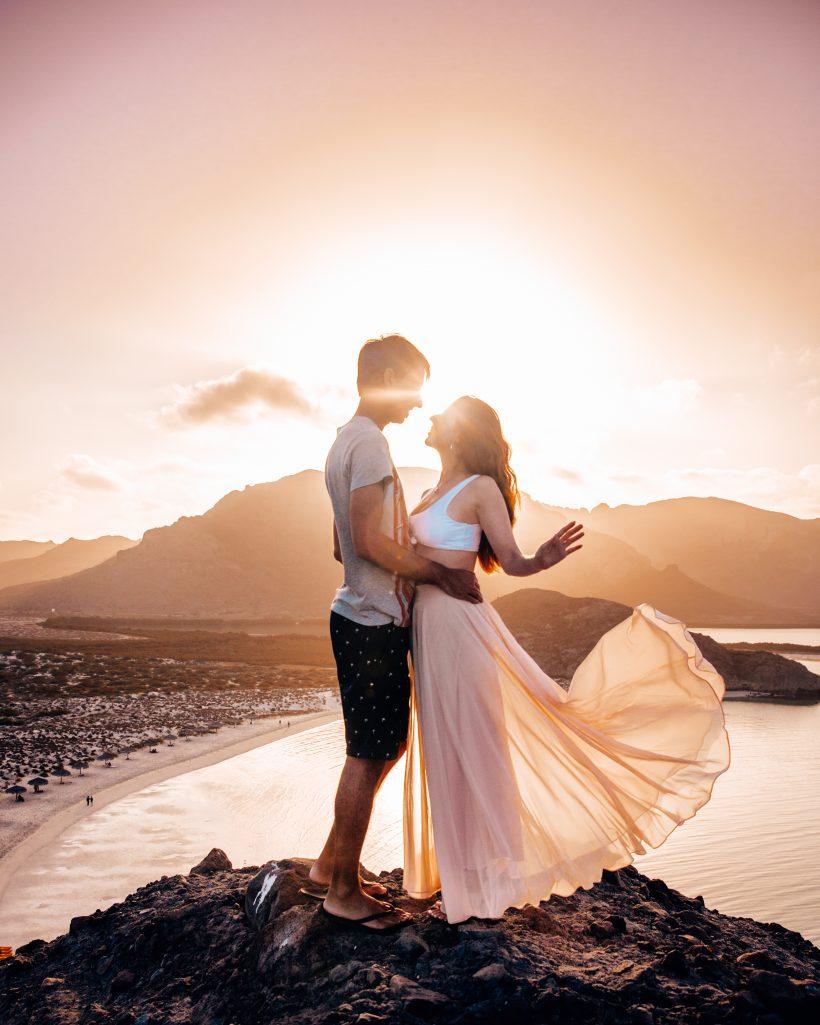 Bettina and Kyle at Sunrise at Balandra Beach