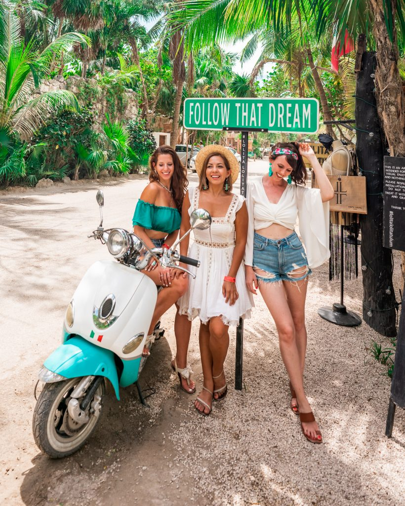Most Instagrammable Places in Tulum: Follow That Dream Sign Tulum with @dwanderess and @travelwithtalia