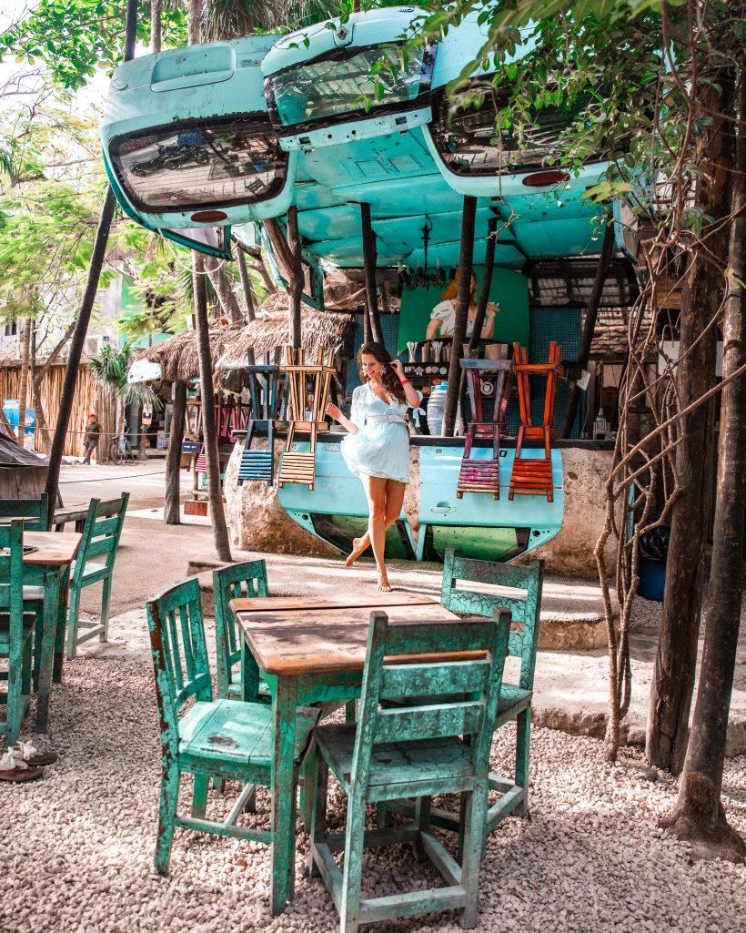 Bettina at I Scream Bar in Tulum