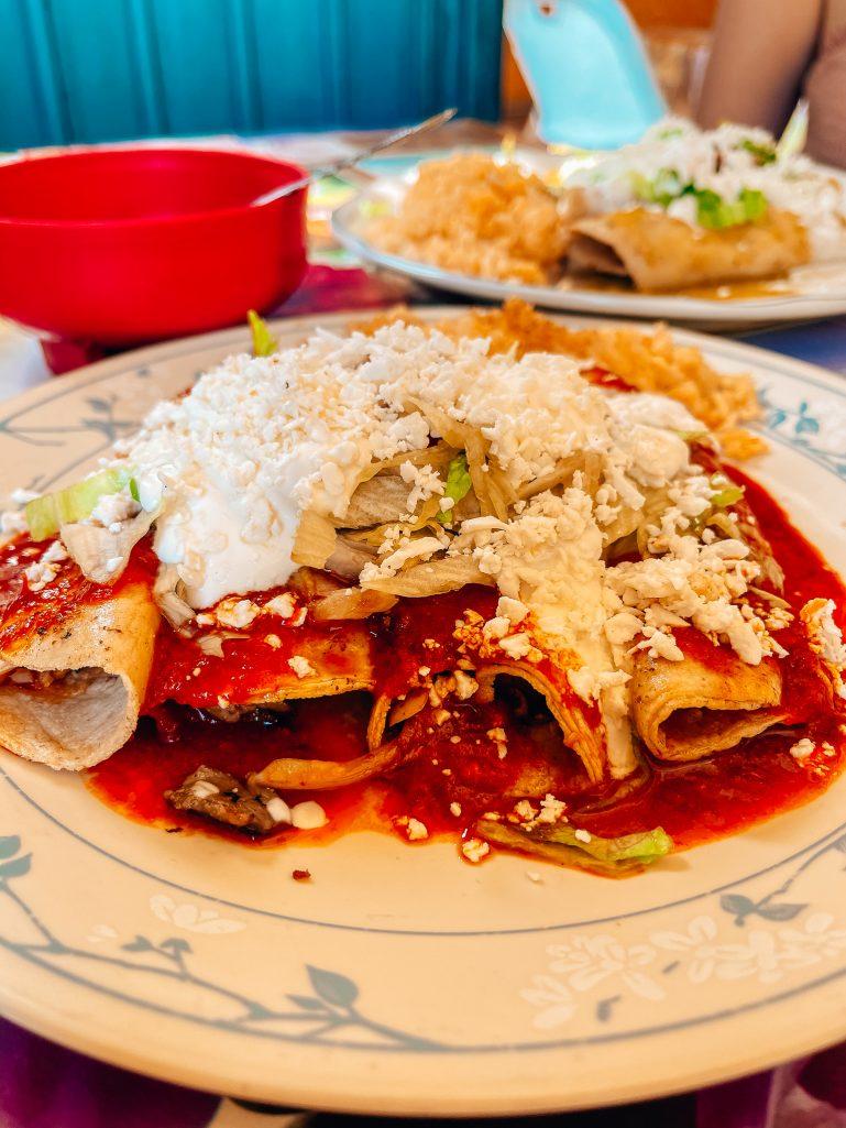 Enchiladas at La Ranita, Cabo San Lucas Itinerary