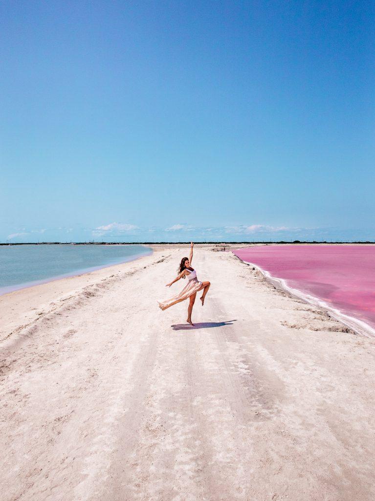Las Coloradas Pink Salt Lakes Yucatan
