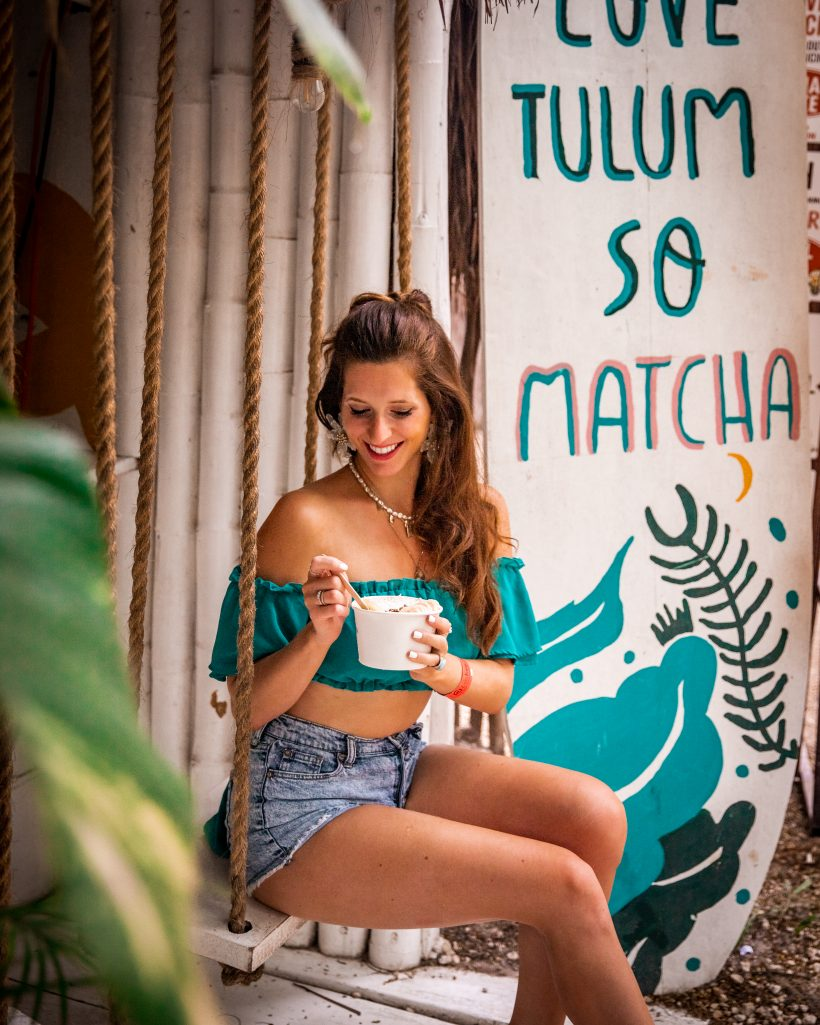 Bettina at Matcha Mama in Tulum Beach