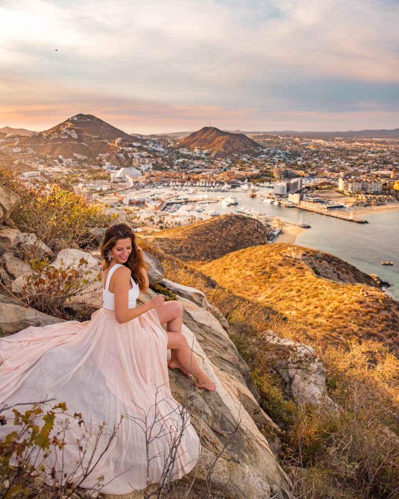 View of Cabo San Lucas from Mount Solmar