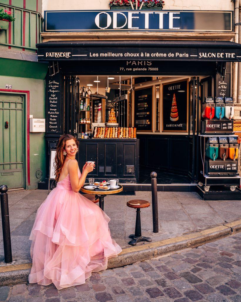 Paris Cafe in Fancy Dress