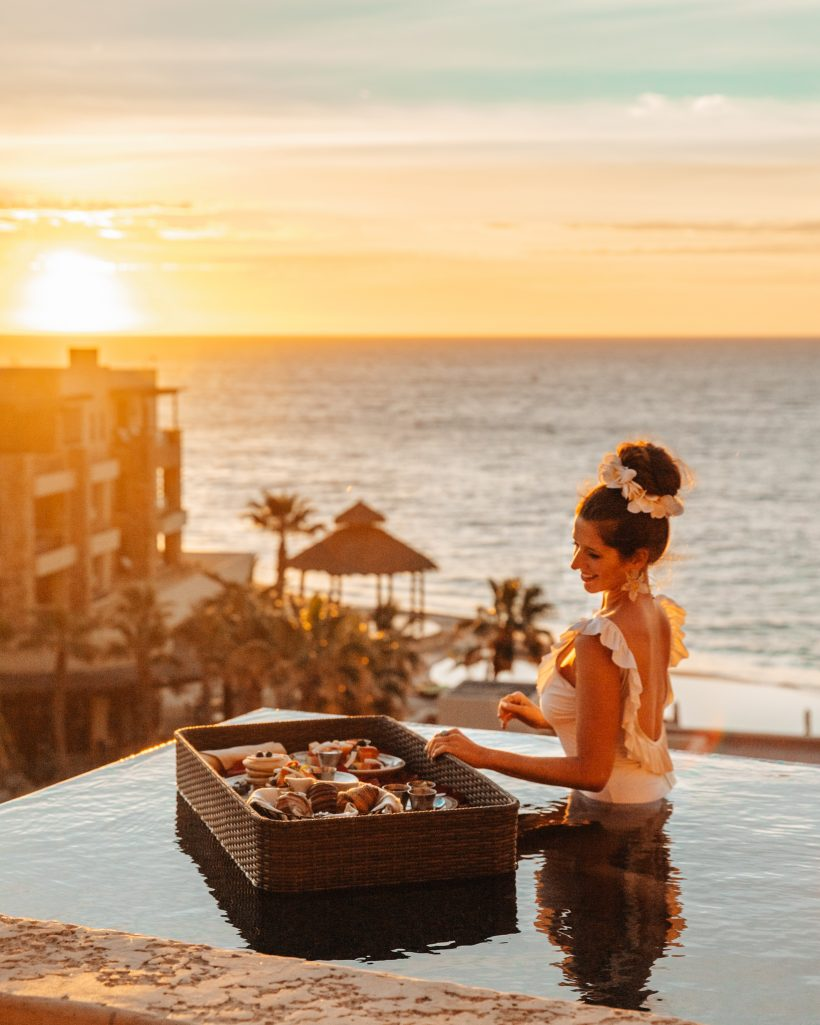 Luxury Cabo Resorts Floating Breakfast