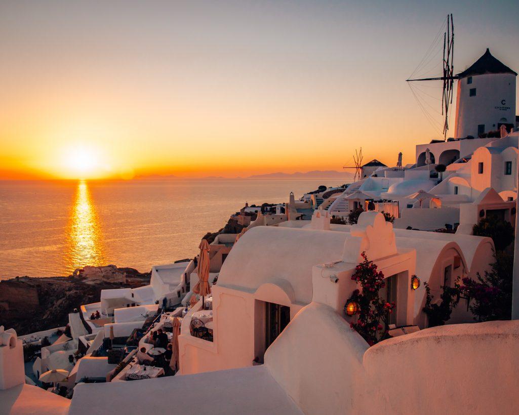 Santorini Sunset Couple Travel Bucket List