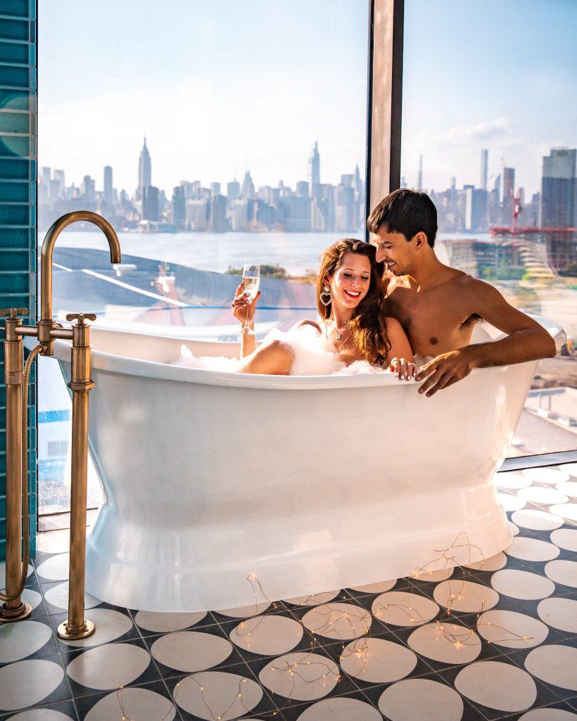 The Williamsburg view couple travel New York City