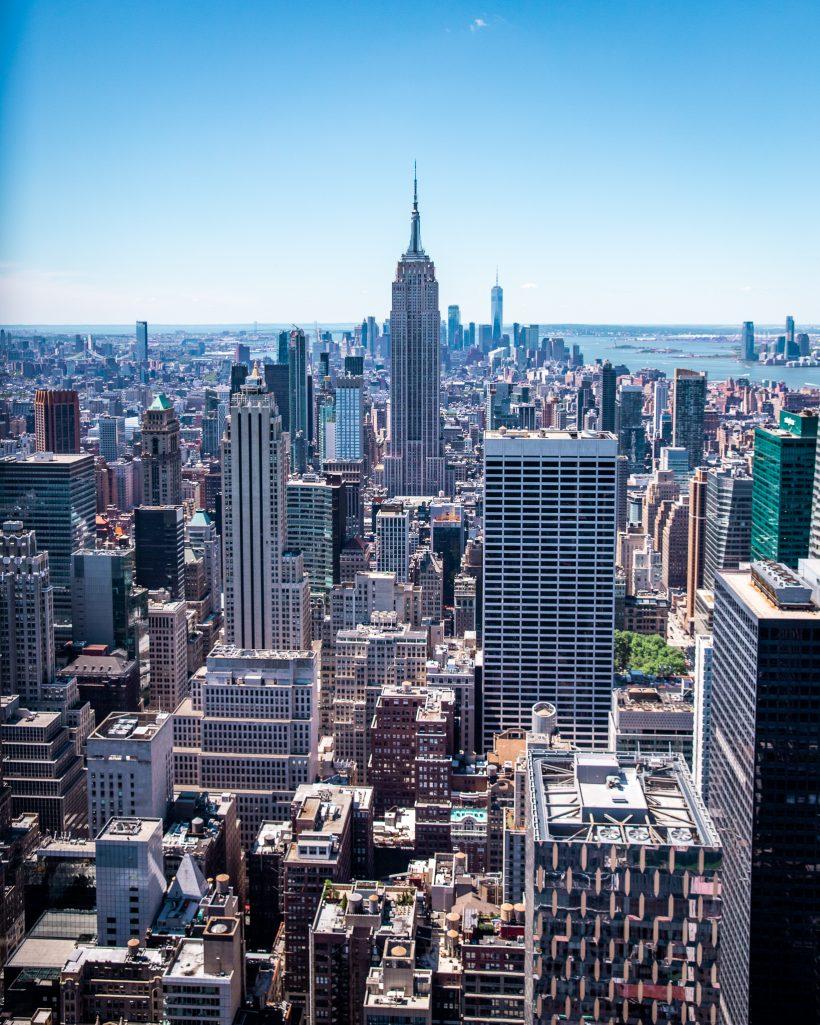 New York City Skyline View Couple Travel