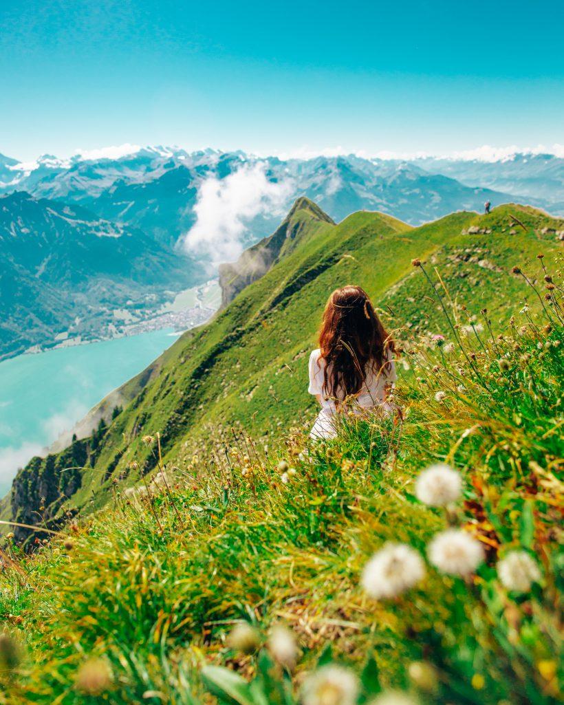 Switzerland couple travel hiking