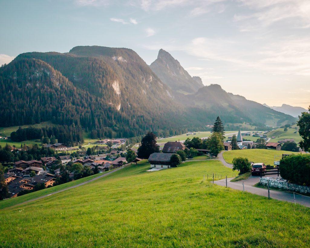 Switzerland mountain view