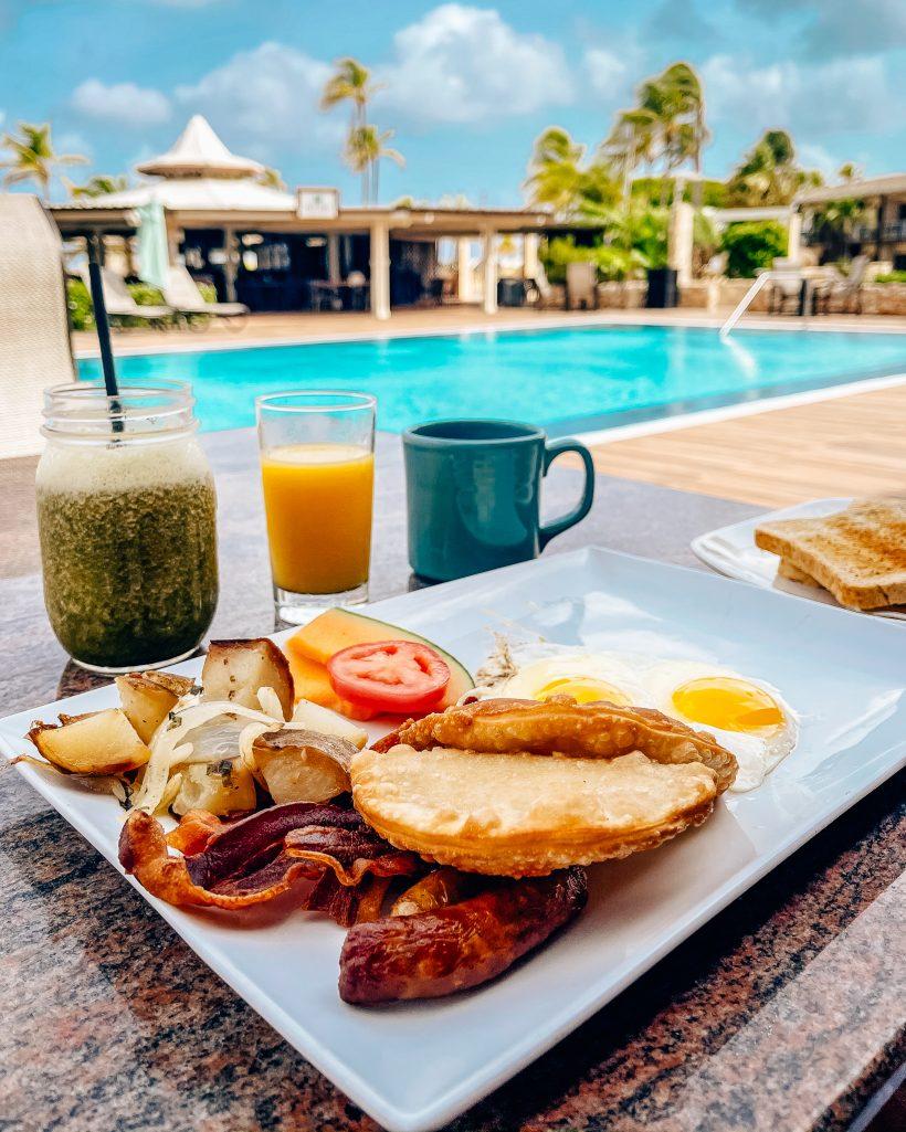 Manchebo Beach Resort Aruba Breakfast