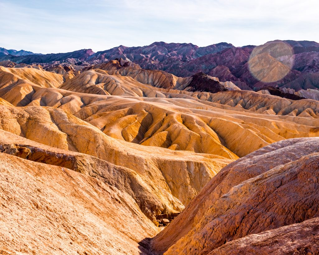 One Day in Death Valley Itinerary Zabriskie Yellow Rocks